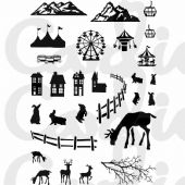 Card-io Combinations A6 Clear Stamp Set - Festive Scene - CDCCSTFES-03
